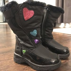 Totes Girls Toddler Snow Boots Size 5